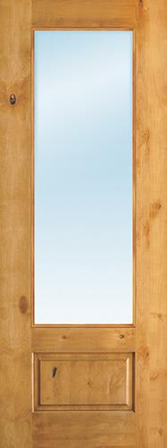 "8'0"" Tall 3/4 Lite Clear Low-E Knotty Alder Wood Door Slab"
