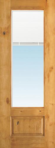 "8'0"" Tall 3/4 Mini-blind Knotty Alder Wood Door Slab"