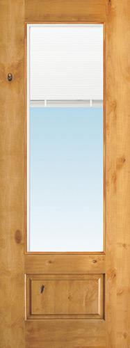 "8'0"" Tall 3/4 Mini-blind Knotty Alder Wood Door Slab"