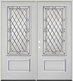 Diamond 3/4 Lite Fiberglass Prehung Double Door Unit #274