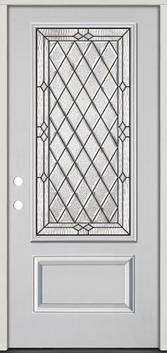 Diamond 3/4 Lite Fiberglass Prehung Door Unit #274