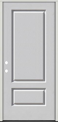 3/4 Panel Fiberglass Prehung Door Unit