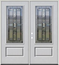 3/4 Lite Fiberglass Prehung Double Door Unit #277