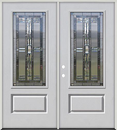 3/4 Lite Fiberglass Prehung Double Door Unit #277