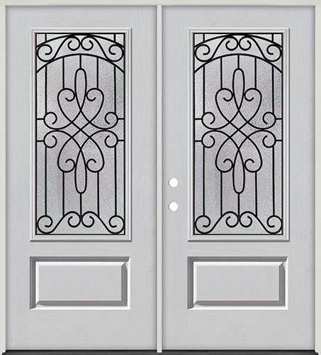 3/4 Lite Fiberglass Prehung Double Door Unit #279