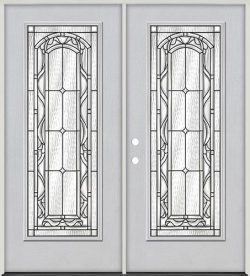 Full Lite Fiberglass Prehung Double Door Unit #292