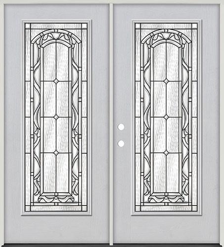 Full Lite Fiberglass Prehung Double Door Unit #292