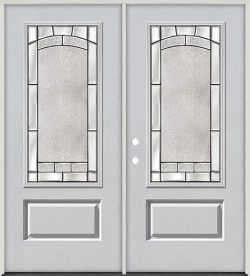 3/4 Lite Fiberglass Prehung Double Door Unit #67