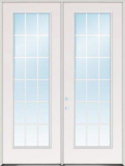 "8'0"" Tall 18-Lite GBG Fiberglass Patio Door Unit"