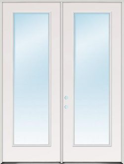 "8'0"" Tall Full Lite Fiberglass Patio Door Unit"