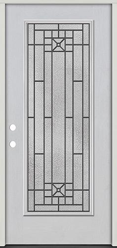 Courtyard Full Lite Fiberglass Prehung Door Unit #281