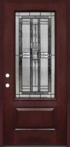 3/4 Lite #277 Pre-finished Fiberglass Door Prehung in Pre-finished Jambs