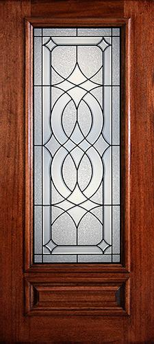Hamilton 3/4 Lite Mahogany Wood Door Slab #7131