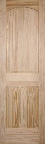 "8'0"" Tall 2-Panel Arch Pine Interior Wood Door Slab"