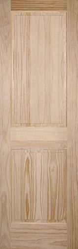 "8'0"" Tall 2-Panel Pine Interior Wood Door Slab"