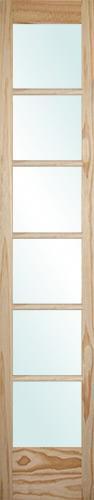 "8'0"" Tall 6-Lite Pine Interior Wood Door Slab"