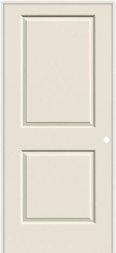 "6'8"" 2-Panel Molded Smooth Interior Prehung Door Unit"