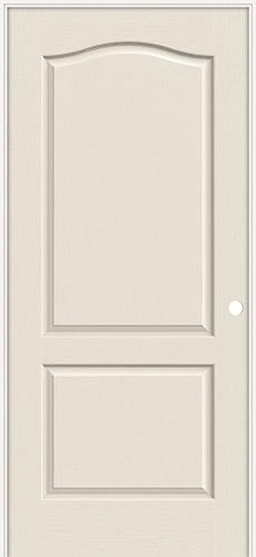 "6'8"" 2-Panel Eyebrow Textured Molded Interior Prehung Door Unit"