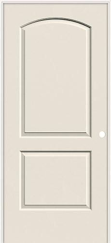 "6'8"" 2-Panel Arch Smooth Molded Interior Prehung Door Unit"