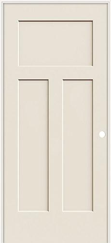 "6'8"" 3-Panel Craftsman Smooth Molded Interior Prehung Door Unit"