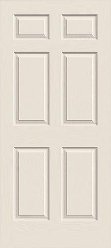 """6'8"""" 6-Panel Textured Molded Interior Door Slab"""