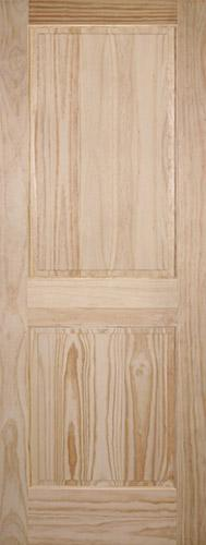 "6'8"" Tall 2-Panel Pine Interior Wood Door Slab"
