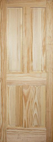 "6'8"" Tall 4-Panel Pine Interior Wood Door Slab"