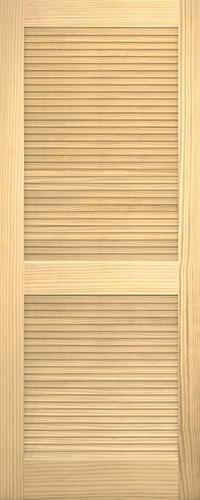 """6'8"""" Tall Traditional Louver Louver Pine Interior Wood Door Slab"""
