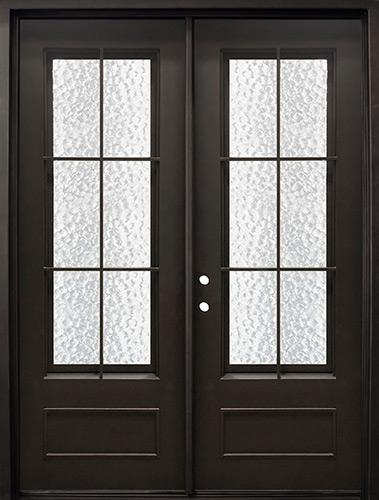 "74"" x 97"" Tiffany Iron Prehung Double Door Unit"