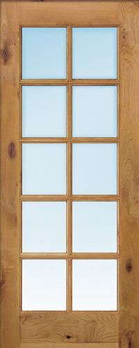 "Interior 6'8"" 10-Lite TDL Knotty Alder Wood Door Slab"