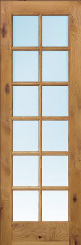 "Interior 8'0"" 12-Lite TDL Knotty Alder Wood Door Slab"