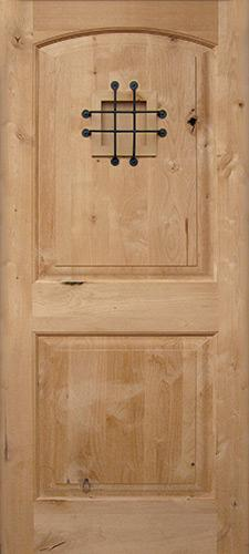 Rustic Knotty Alder Wood Door Slab #UK26