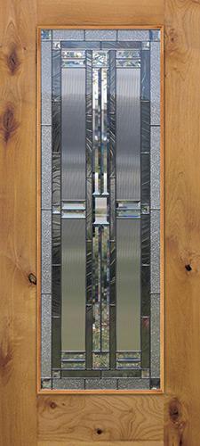 Full Lite Knotty Alder Wood Door Slab #297