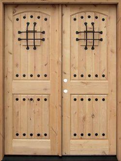 Rustic Knotty Alder Wood Double Door Unit #UK20