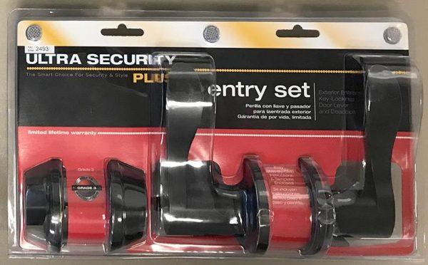 Ultra Door Lever and Deadbolt Bronze Keyed Lockset Combo