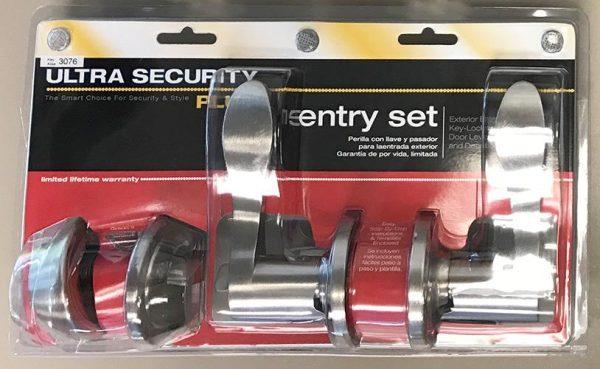 Ultra Door Lever and Deadbolt Nickel Keyed Lockset Combo