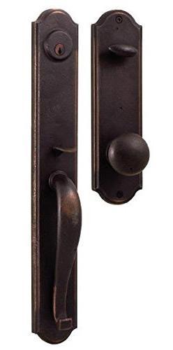 Rustic Bronze Handle Locket for Iron or Wood Doors #7680