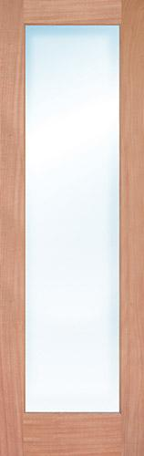 "8'0"" Tall Full Lite Mahogany Wood Door Slab"