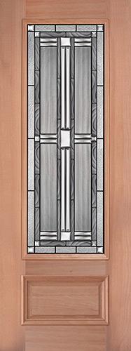 "8'0"" Tall 3/4 Lite Mahogany Wood Door Slab #297"