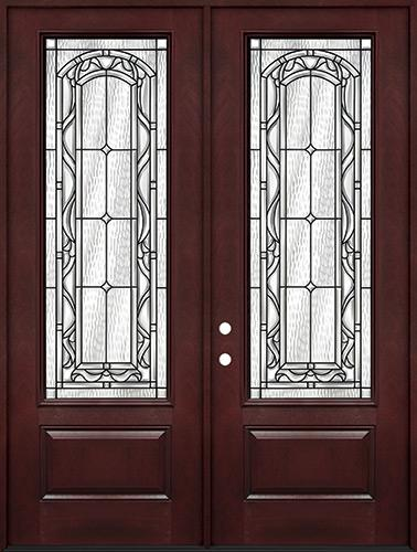 "8'0"" Tall 3/4 Lite Pre-finished Fiberglass Double Door Unit #292"