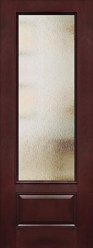 "Privacy Glass 8'0"" Tall 3/4 Lite Pre-finished Fiberglass Wood Door Slab"