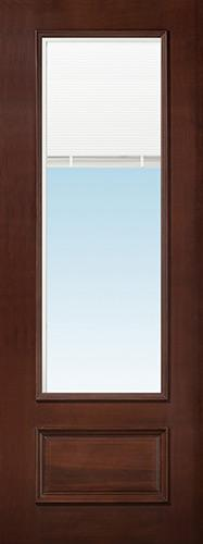 "8'0"" Tall 3/4 Mini-blind Pre-finished Mahogany Wood Door Slab"