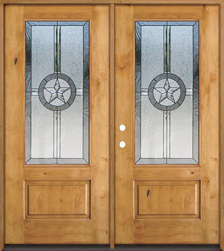 Texas Star 3/4 Lite Knotty Alder Wood Double Door Unit #70