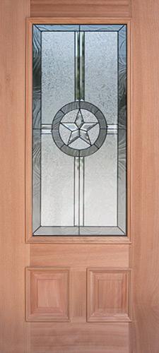 Texas Star 3/4 Lite Mahogany Wood Door Slab #70