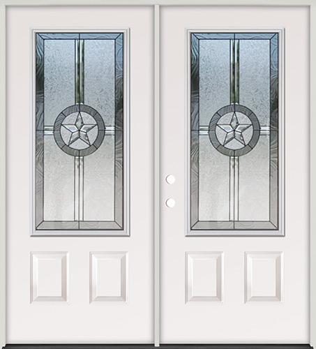 Texas Star 3/4 Lite Steel Prehung Double Door Unit #70