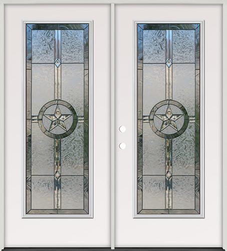 Texas Star Full Lite Steel Prehung Double Door Unit #90