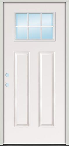 6-Lite Craftsman Steel Prehung Door Unit