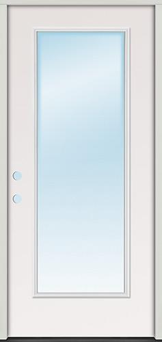 Full Lite Steel Prehung Door Unit