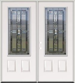 3/4 Lite Steel Prehung Double Door Unit #277