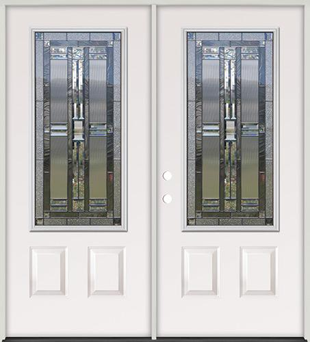 3/4 Lite Steel Prehung Double Door Unit #277